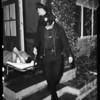 Officer's wife shoots burglar in her home, 1954