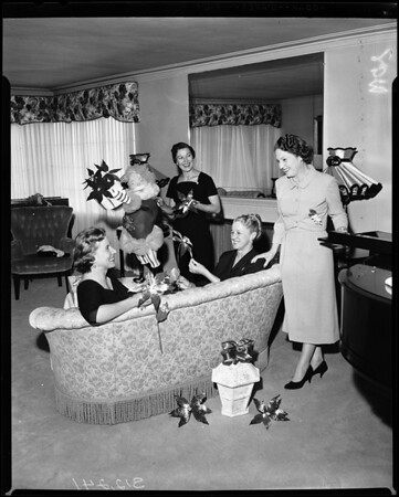 Poinsettia Ball planned -- Los Angeles County Medical Auxiliary, 1957