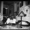 Churches: Catholic -- St. Vibiana's Tenebrae rites, 1954