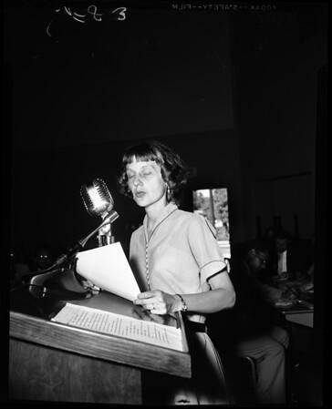 Olympic Freeway hearing, 1956