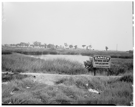 Swamp hole branded as death trap, 1951