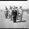 Secretary of Navy Charles Thomas at El Toro Marine Base, 1954