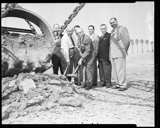 Ground-breaking for new May Company in West Covina, 1956