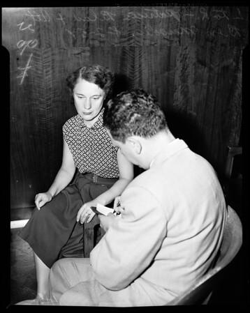 Federal arraignment, 1954