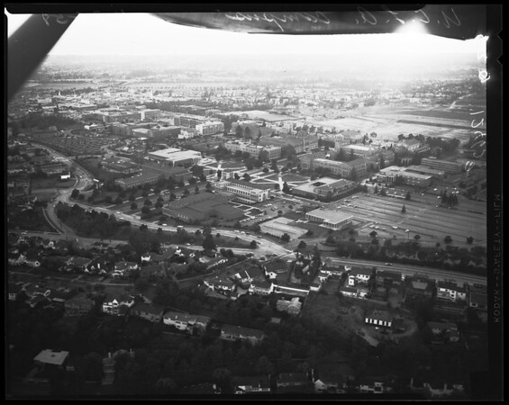 "Aerial views of UCLA Campus (""Lind Flight Service""), 1958"