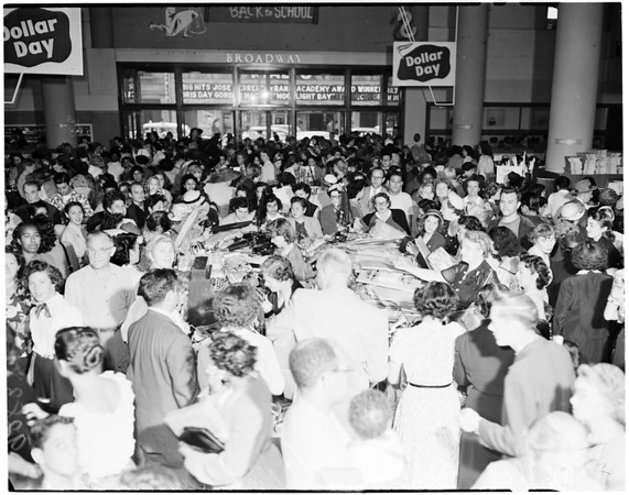 Downtown dollar day, 1951