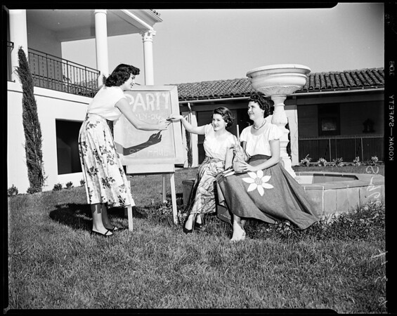 Tarsians planning party, 1952