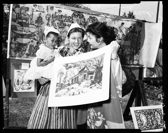 International Outdoor Art Festival (sponsored by Baby Auxiliary of Los Angeles County Bureau of Adoptions), 1957