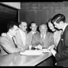 Governor signs Lakewood Tax-Validation Bill at Lakewood Country Club, 1954