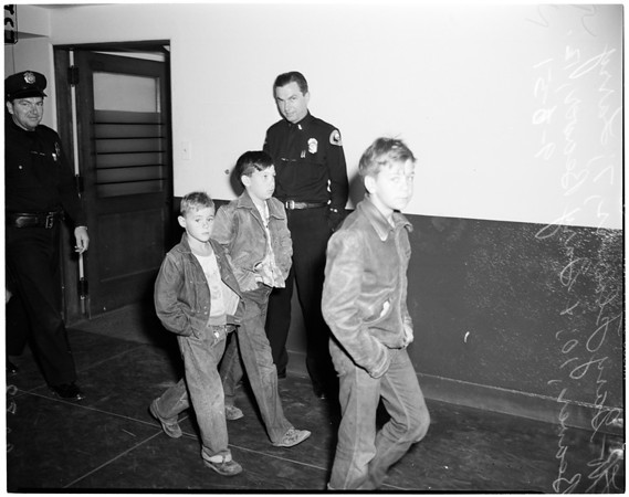Three runaway boys, 1951