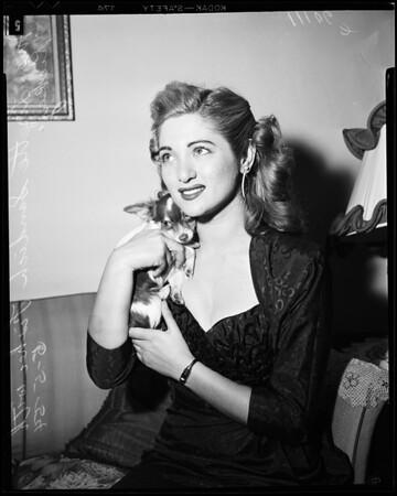 Lisette Fisher divorce, 1954