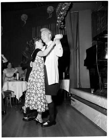 Bermuda shorts make debut on Sunset Strip at Mocambo, 1954