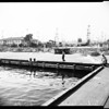 High tide versus Long Beach Harbor sinking, 1952
