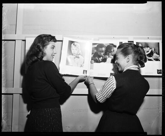 Photo Exhibit in State Museum High School Exhibition, 1956
