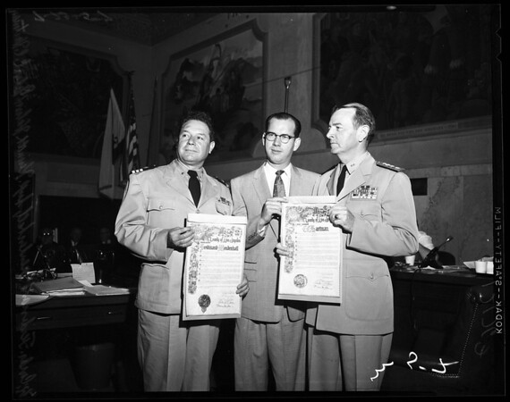 Navy honored by supervisors, 1957