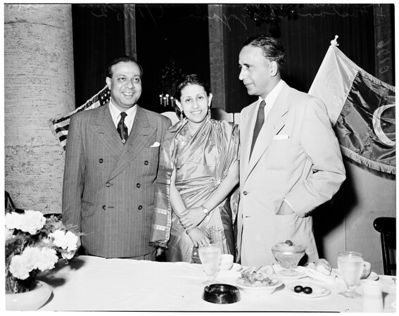 Pakistan ambassador (at Biltmore), 1952