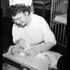 Abandoned baby boy (at hospital), 1954