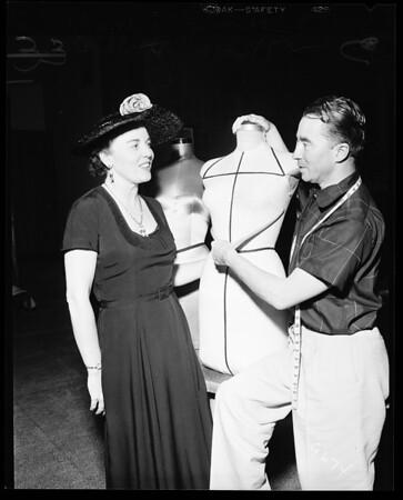 Dress designer, 1952