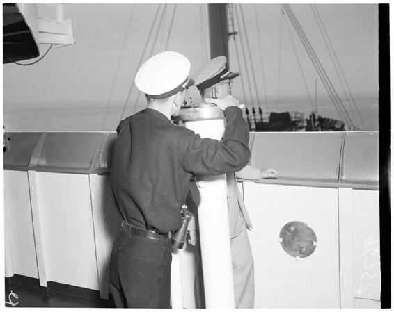 "Merchant marine officer's training ship ""Golden Bear"", 1952"