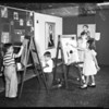 Children painters at Matisse art exhibit, 1952