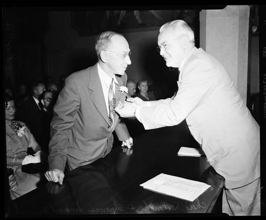 Judge Fricke gets 25 year pin, 1952