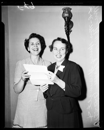 Camp Fire Girls Award, 1955