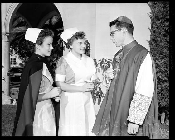 Universities: Mount Saint Mary's College (Nurse capping ceremony), 1954
