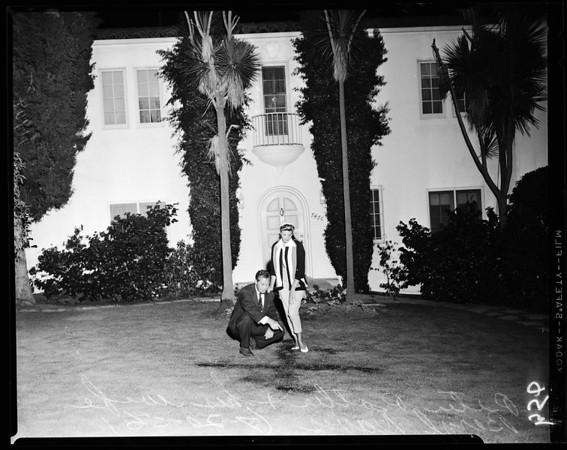Cross-burning at 7470 Franklin Avenue, 1956