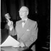 Budget hearing, 1952