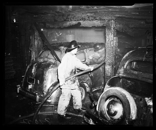 Fire on West 61st Street, 1952