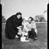 Veterans Day graveside (at graveside of father's boyhood chum), 1957