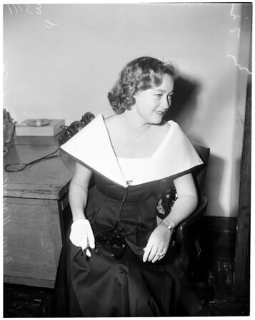 Nora Haymes alimony, 1954