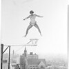 Aerialist act atop Gaylord Hotel, 1954.