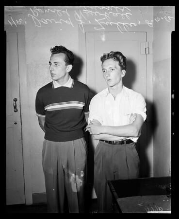 Air gunmen (Hollywood Police Station), 1952