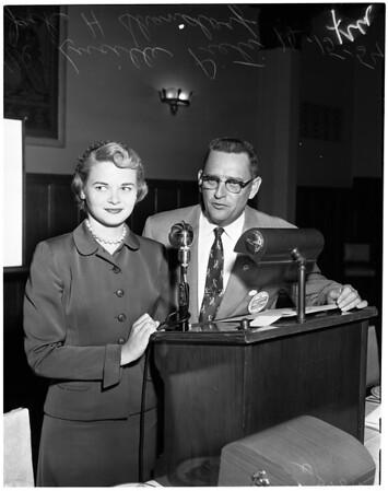 Drive Safely Week -- Automotive Council, Elks Temple, 1954