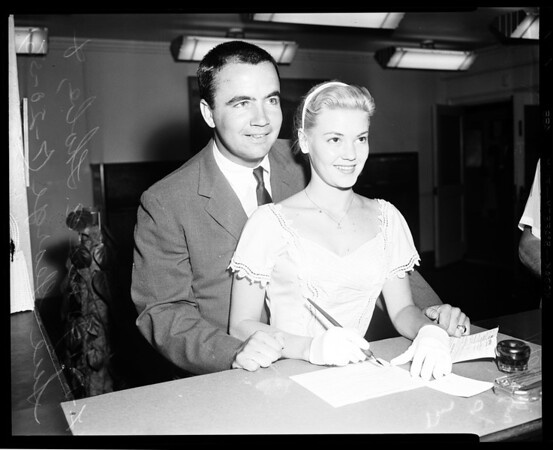 Marriage license, 1956