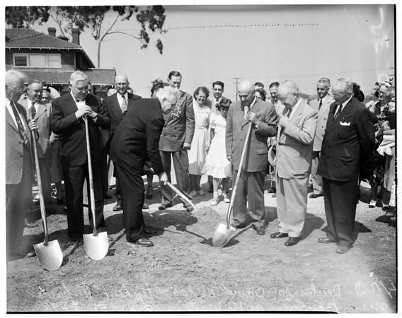 Mormon Temple groundbreaking, 1951