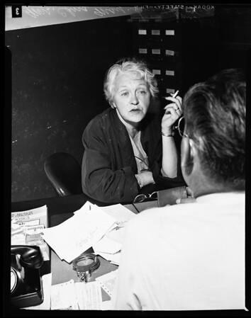 Edna Driskell arrest (attempted to kill officer), 1955