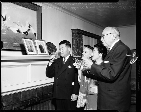 Mayor Clarence Winder (Toasting picture of Emperor and Empress).
