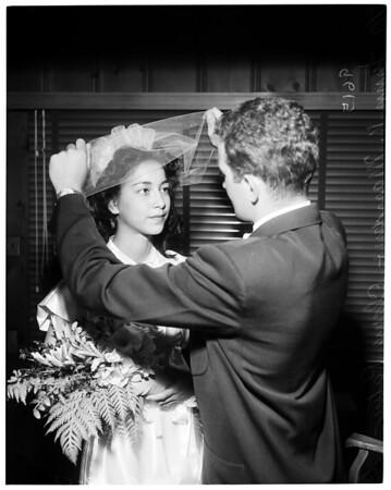 Sailor marriage license, 1952