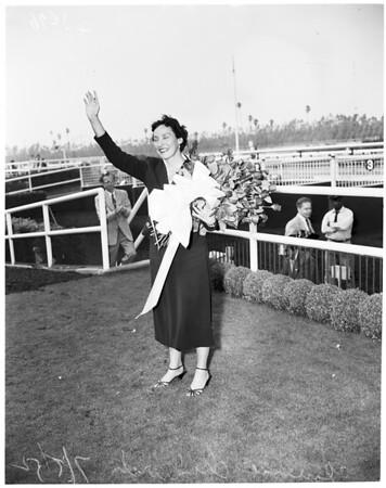 Chadwick at Hollywood Park, 1952