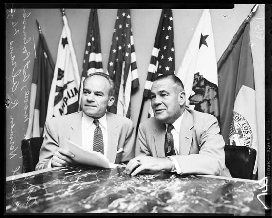 Press conference, 1955