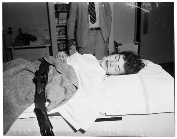 First school traffic victim, Georgia Street Hospital, 1951