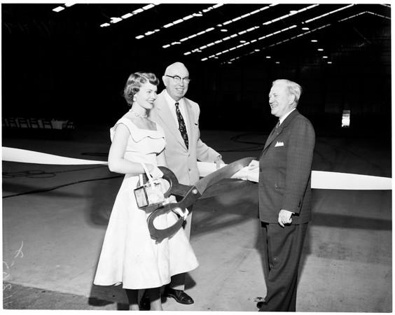 Dedication -- new float construction building in Pasadena, 1954