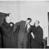 Swearing in of new municipal judge, 1952