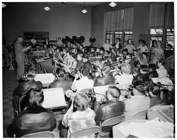 El Monte High School Band, 1952