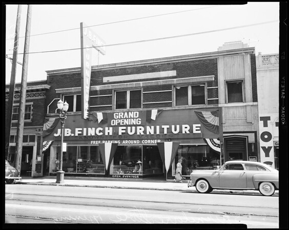 J.B. Finch Furniture Store opening, 1952