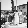 Mount St. Mary's College skirt raising ceremony, 1954