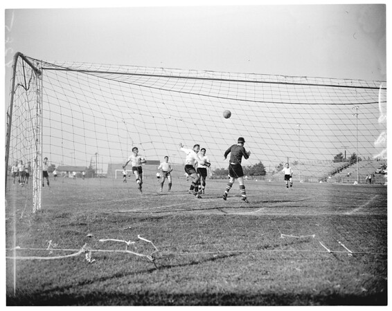 Victoria and Italian athletic club soccer, 1951