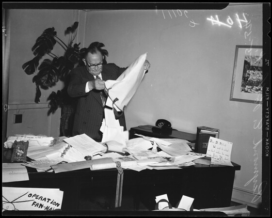 Retiring Associate Superintendent of Schools, 1954